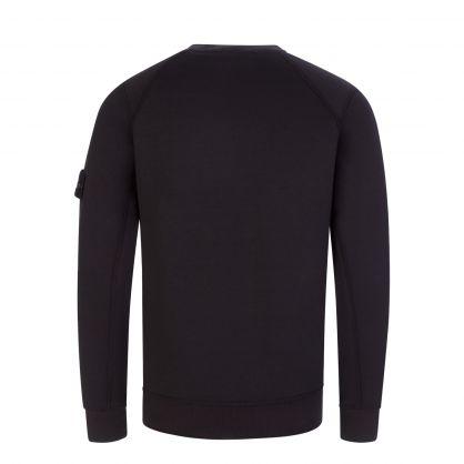 Junior Black Stretch Cotton Sweatshirt