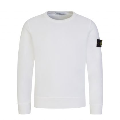 Junior White Compass Patch Sweatshirt