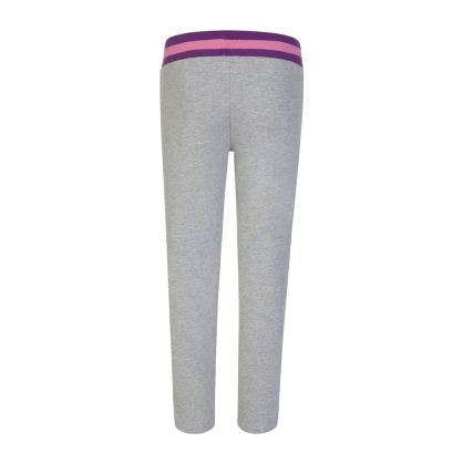 Grey Sports Logo Tape Sweatpants