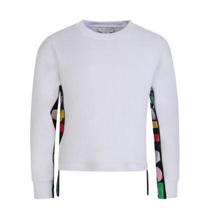 White Organic Cotton Tape Logo Sweatshirt