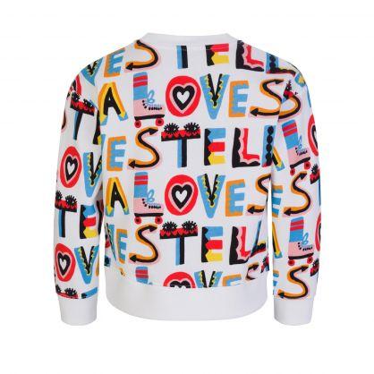White Stella Loves Logo Sweatshirt