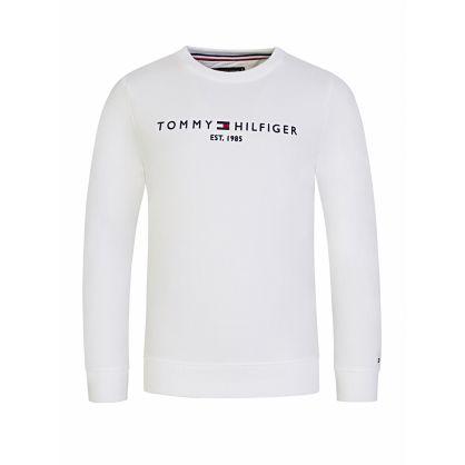 Kids White Essential Logo Sweatshirt