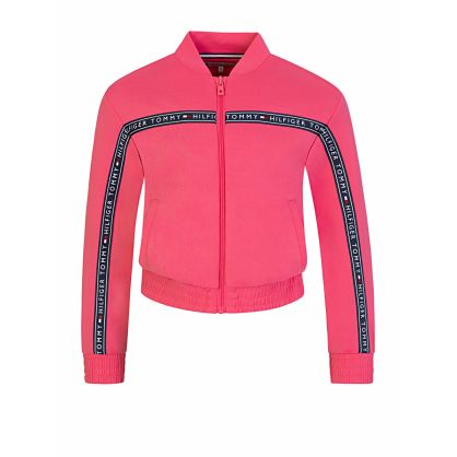 Kids Pink Logo Tape Track Top