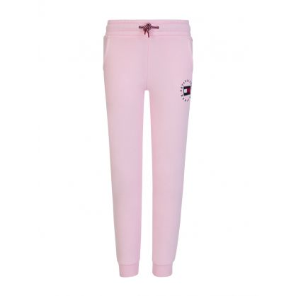 Kids Pink Heritage Logo Sweatpants