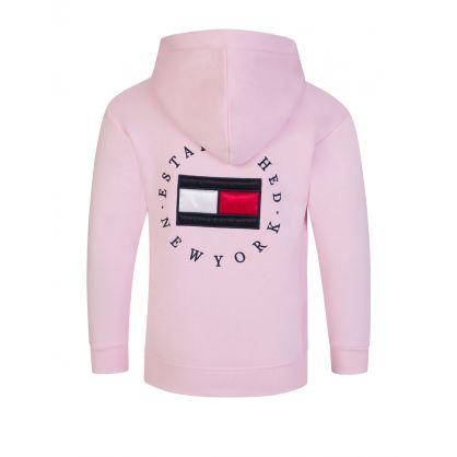 Kids Pink Heritage Logo Zip-Through