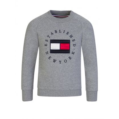 Kids Grey Heritage Logo Sweatshirt