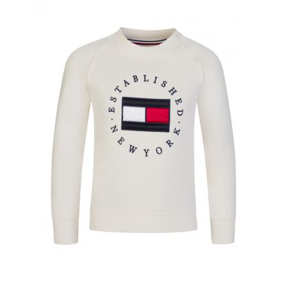 Kids Cream Heritage Logo Sweatshirt