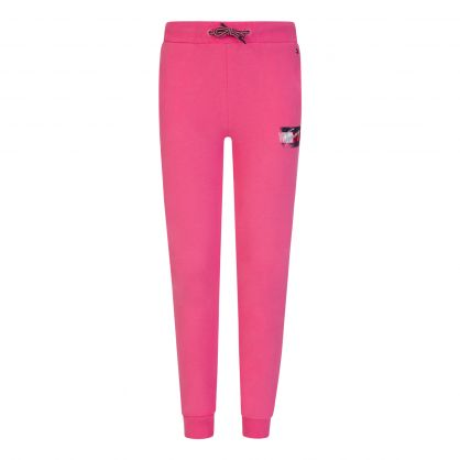 Kids Pink Faded Flag-Print Sweatpants
