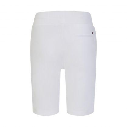 Kids White Essential Sweat Shorts