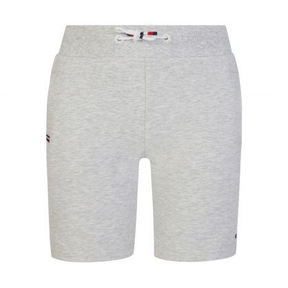 Kids Grey Rib Insert Sweat Shorts