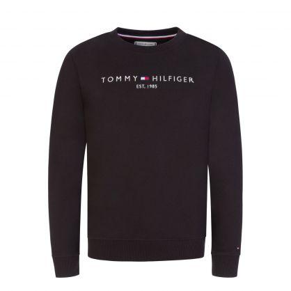 Kids Black Essential Sweatshirt