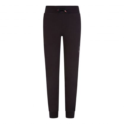 Kids Black Essential Organic Cotton Sweatpants