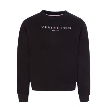Kids Black Essential Sweatshirt & Leggings Set
