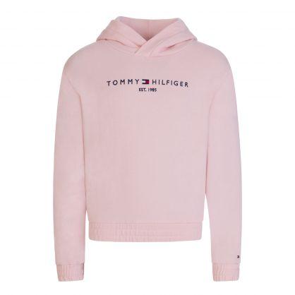 Kids Pink Essential 1985 Logo Hoodie
