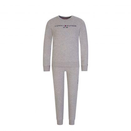 Kids Grey Essential Two-Piece Sweatshirt & Sweatpants Set