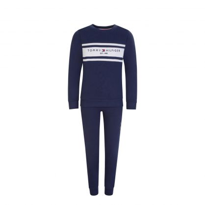 Kids Navy Essential Sweatshirt & Joggers Set