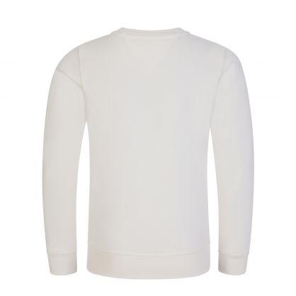 Kids Ivory Organic Cotton Logo Sweatshirt