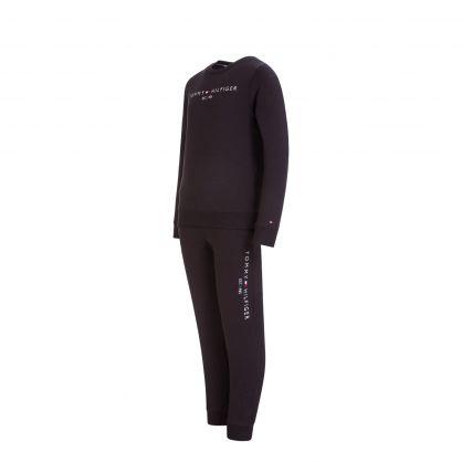 Kids Black 2-Piece Essential Sweatshirt & Sweatpants Set