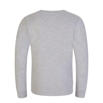 Kids Grey Organic Cotton Logo Crewneck Sweatshirt