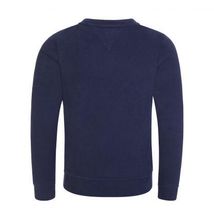 Kids Navy Organic Cotton Logo Crewneck Sweatshirt