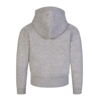 Kids Grey Metallic Logo Hoodie
