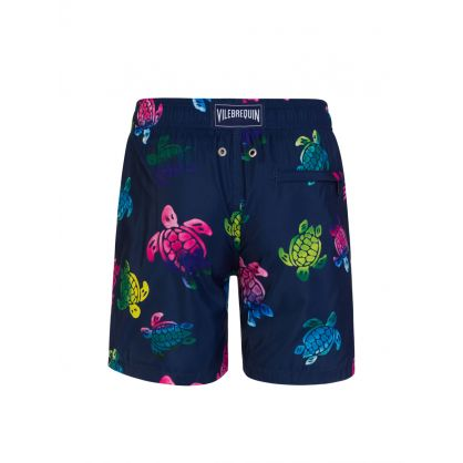 Junior Navy Ronde Des Tortues Turtle Swim Shorts