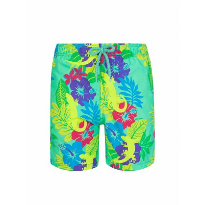 Junior Green Les Geckos Swim Shorts