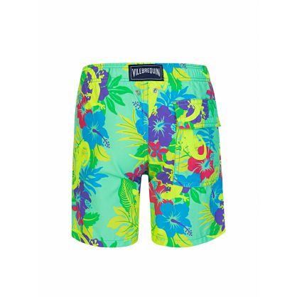 Junior Green Les Geckos Swim Shorts