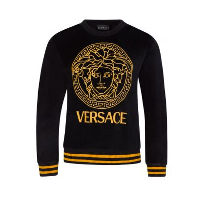 Black Junior Velvet Medusa Head Sweatshirt