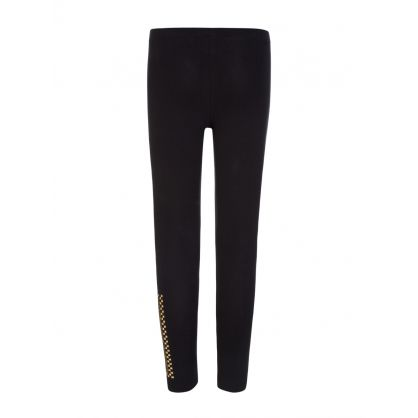 Black Junior Gold Studded Leggings