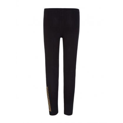 Black Gold Studded Leggings