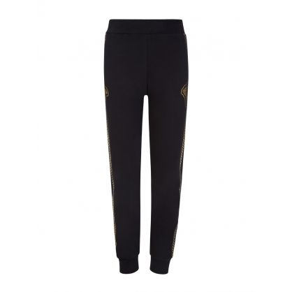 Black and Gold Medusa Head Junior Sweatpants
