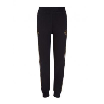 Black and Gold Medusa Head Junior Sweatpants