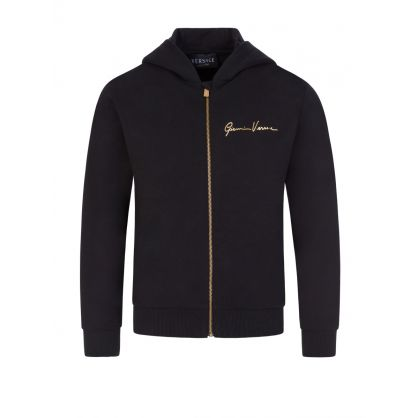 Black Junior Signature Zip-Through Jacket