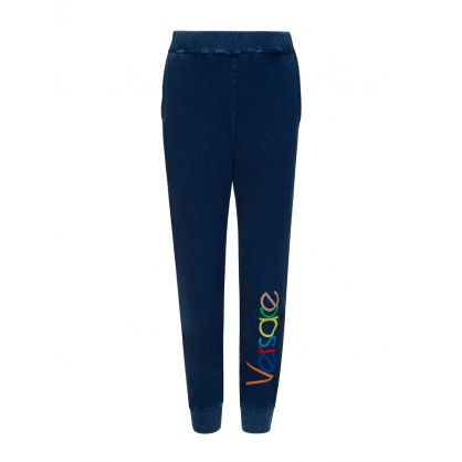 Blue Junior Embroidered Vintage Logo Sweatpants