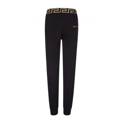 Black Junior Greco-Print Sweatpants
