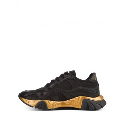 Black/Gold Junior Squalo Trainers