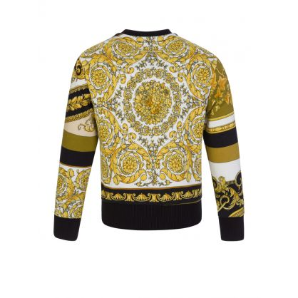 Black Baroque-Print Sweatshirt