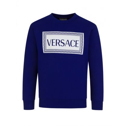 Blue Junior Chest Logo Sweatshirt