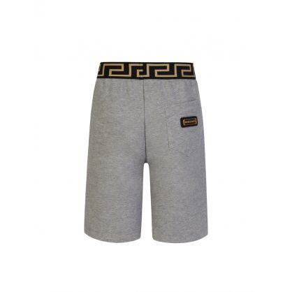 Grey Junior Greca Shorts