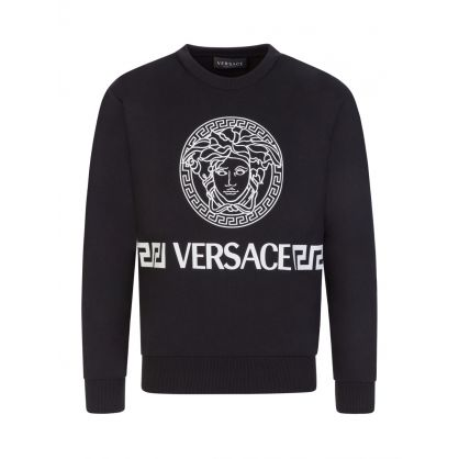 Black Junior Medusa Sweatshirt