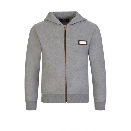 Grey Junior Zip-Through Hoodie