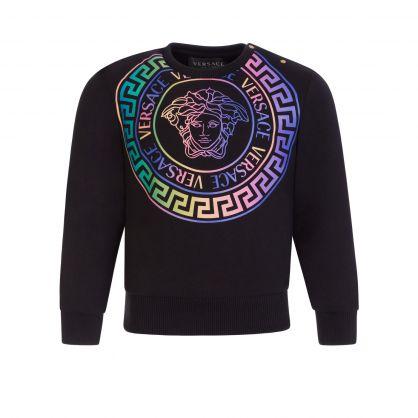 Black Toddler Medusa Holographic Sweatshirt