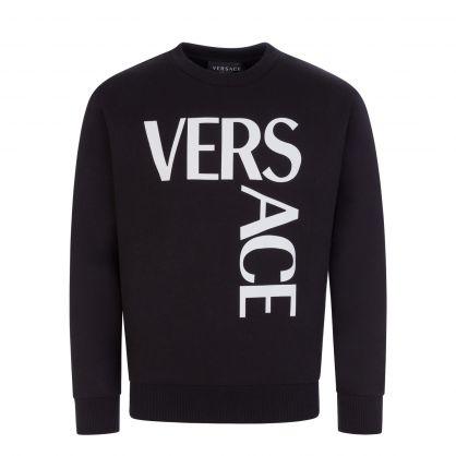 Black Junior Oversized Logo Sweatshirt