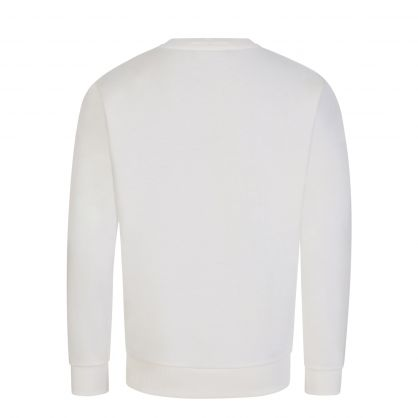 Off White Junior Plush Oversized-Logo Sweatshirt
