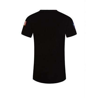 Kids Black NASA Patch T-Shirt