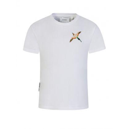 Kids White Single Bee Bird T-Shirt