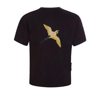 Kids Black Metallic Tori Bird T-Shirt