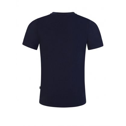 Navy Slim-Fit Essential Curved Logo T-Shirt