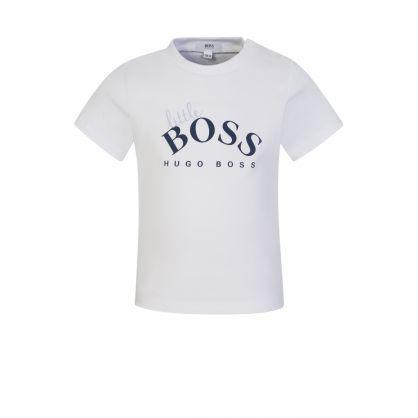 """White """"Little BOSS"""" T-Shirt"""
